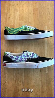 Vans Era Twist Warp Checker Green Purple Low Canvas Shoes Skate Board Men's 9