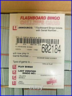 Vintage FlashBoard Bingo Pull Tabs in display/sale case New Old Stock Apx 1400