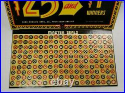 Vintage Jar-O-Derby Pull Tab Game Money Board Gambling New Old Stock Rare