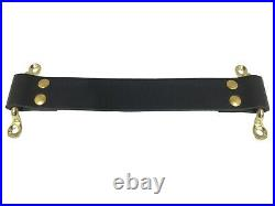 Vintage Loop Door Pull / Door Check Black Kit Brass Hardware