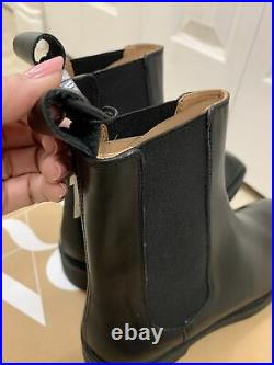 ZARA LOW HEEL SQUARED TOE LEATHER ANKLE BOOTS Size US 7.5 EU 38